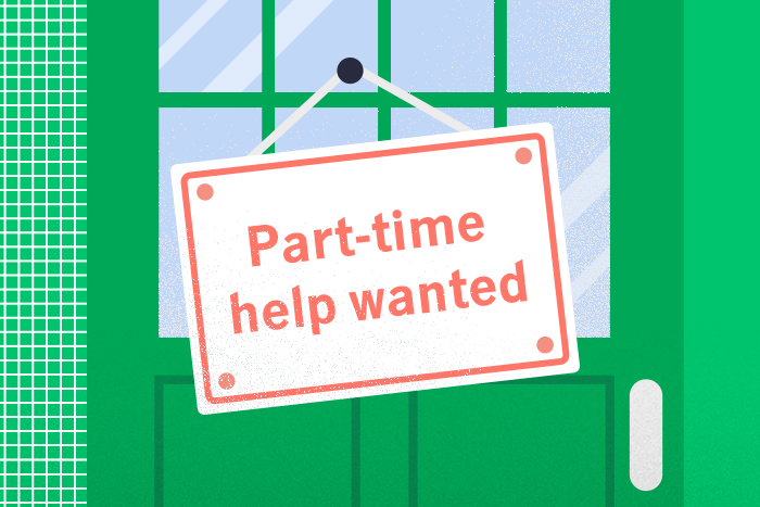 part time help sign
