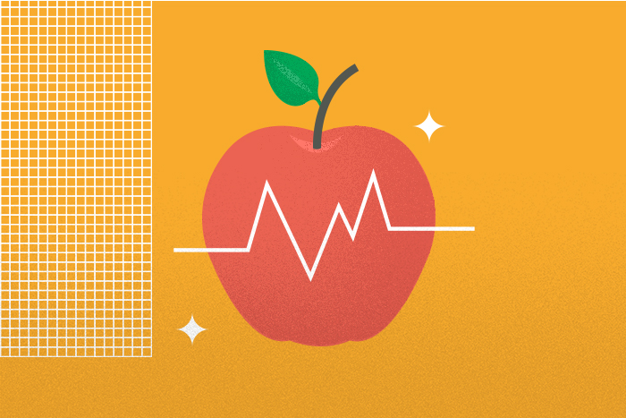 apple with heart monitor