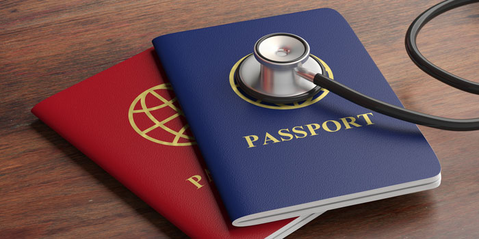 passports with stethescope